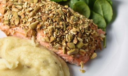 Pepita Crusted Salmon