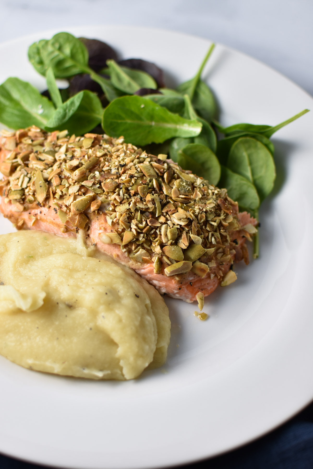 Pepita Crusted Salmon